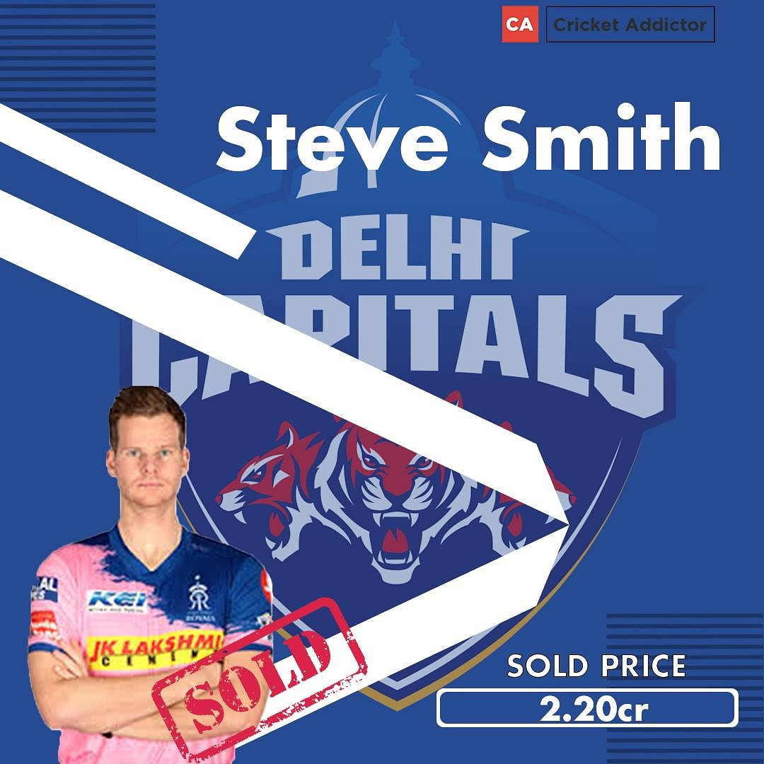 Smiths Christmas Hours 2021 Ipl 2021 Auction Steve Smith Sold To Delhi Capitals For Inr 2 2 Crores