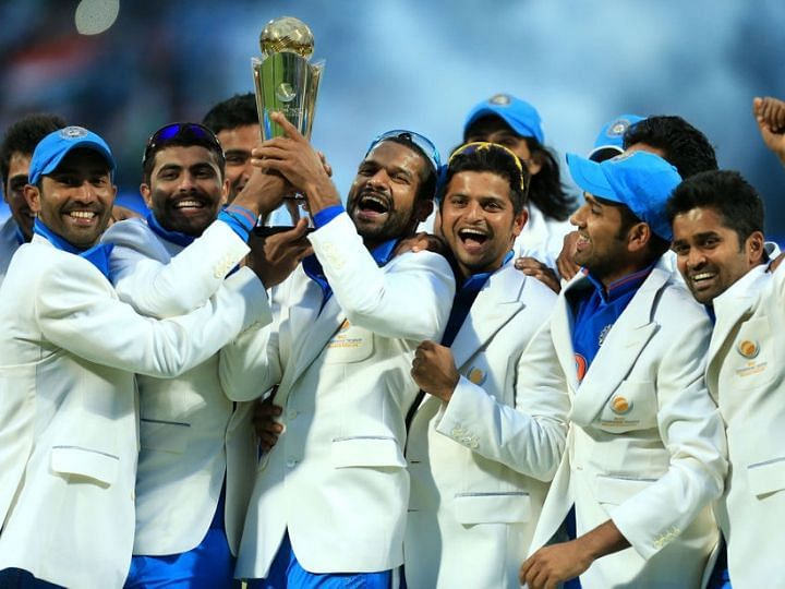 India as 2013 ICC Champions Trophy winners. Credits: Twitter